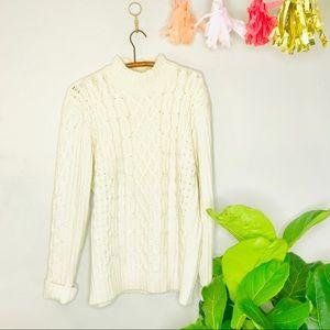 VTG 90's Mock Turtleneck Oversized Chunky Sweater